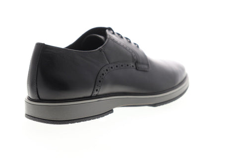 Geox U Tyren U948CA00046C9999 Mens Black Leather Casual Lace Up Oxfords Shoes