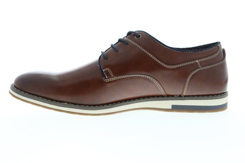 Unlisted by Kenneth Cole Lyle Lace Up Mens Brown Leather Dress Oxfords Shoes