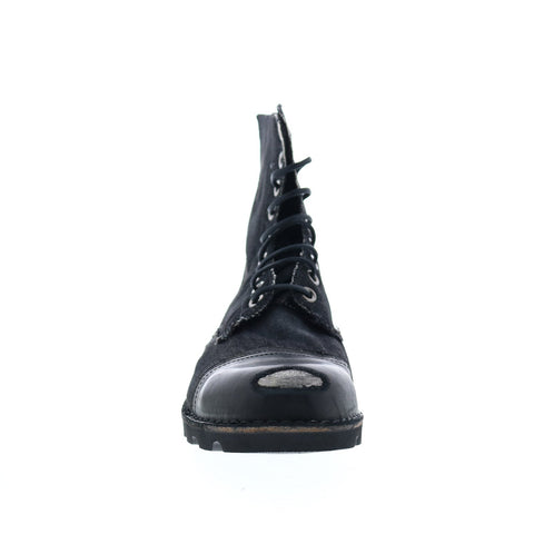 Diesel Hardkor Steel Mens Black Canvas Lace Up Casual Dress Boots