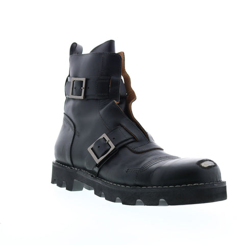Diesel Hardkor Steel Bc Mens Black Leather Strap Casual Dress Boots