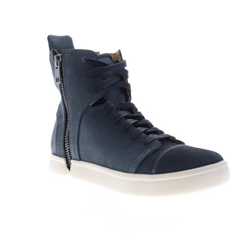 Diesel S-Nentish HBD Y01658-P1609-T8013 Mens Blue Suede High Top Sneakers Shoes