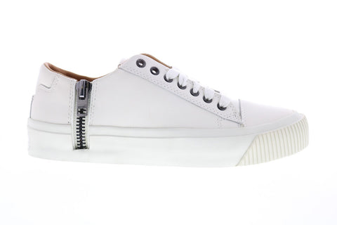 Diesel Zip-Turf S-Voyage Low Mens White Leather Lifestyle Sneakers Shoes