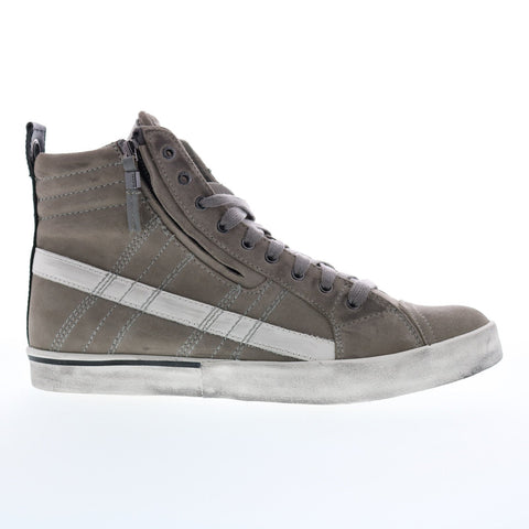 Diesel D-Velows Mid Lace Mens Gray Suede Lace Up Lifestyle Sneakers Shoes