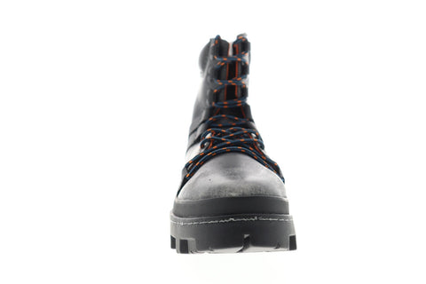 Diesel D-Vibe Hikeb Y01818-P0134-T8013 Mens Black Leather Hiking Boots Shoes