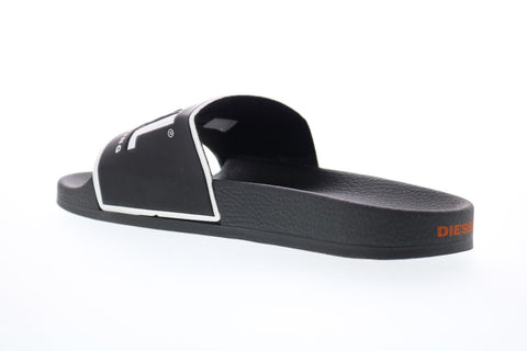 Diesel Valla Sa-Valla Mens Black Synthetic Slip On Slides Sandals Shoes