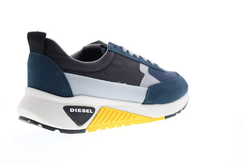 Diesel S-Kb Low Lace II Mens Blue Suede Lace Up Lifestyle Sneakers Shoes