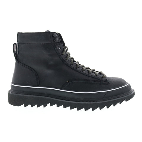 Diesel H-Shiroki Dmbb Mens Black Leather Lace Up Casual Dress Boots