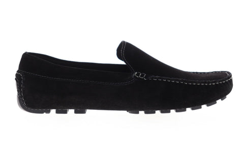 Zanzara Picasso ZG100C50 Mens Black Suede Casual Slip On Loafers Shoes