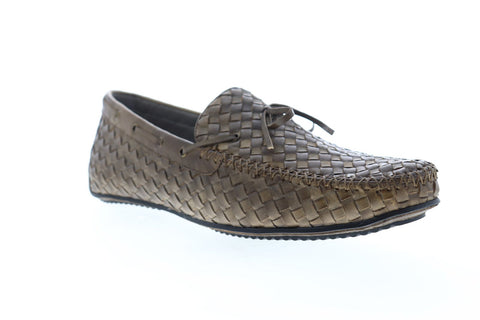 Zanzara Dali ZG106C56 Mens Brown Leather Casual Slip On Loafers Shoes