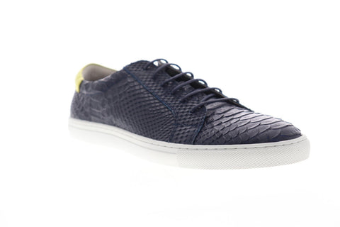 Zanzara Riff ZG713S13 Mens Blue Leather Lace Up Low Top Sneakers Shoes