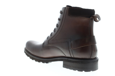 Zanzara Keller ZK555S15 Mens Brown Leather Lace Up Casual Dress Boots Shoes