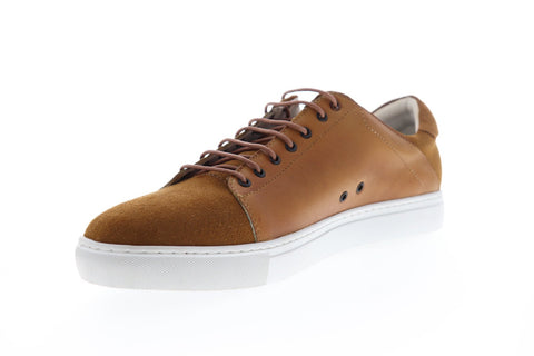 Zanzara Record ZZL1039 Mens Brown Suede Lace Up Low Top Sneakers Shoes