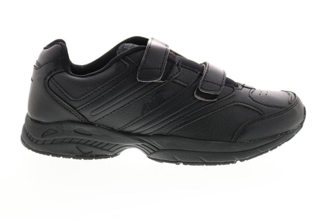 Avia A344WBSY Womens Black Leather Low Top Walking Athletic Shoes