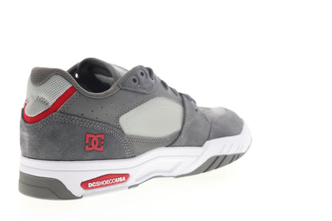 DC Maswell ADYS100473 Mens Gray Leather Low Top Lace Up Skate Sneakers Shoes