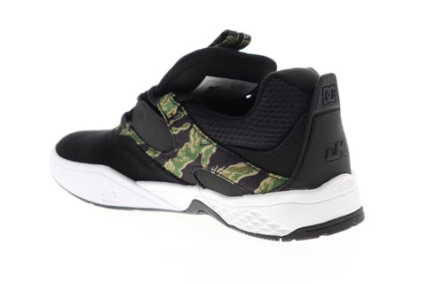 DC Kalis SE ADYS100507 Mens Black Suede Camouflage Low Top Skate Sneakers Shoes