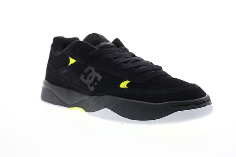 DC Penza ADYS100509 Mens Black Suede Lace Up Skate Sneakers Shoes