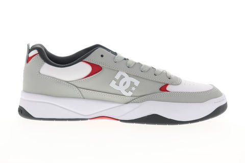 DC Penza ADYS100509 Mens Gray Leather Lace Up Skate Sneakers Shoes