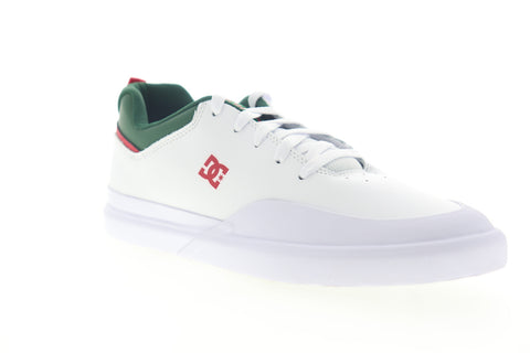 DC Infinite SE ADYS100558 Mens White Leather Low Top Skate Sneakers Shoes