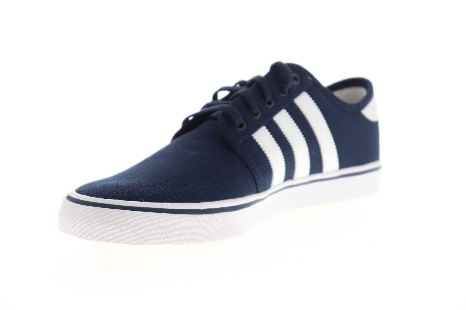 Ruze Shoes: Adidas Seeley Mens Blue Canvas Casual Lace Up