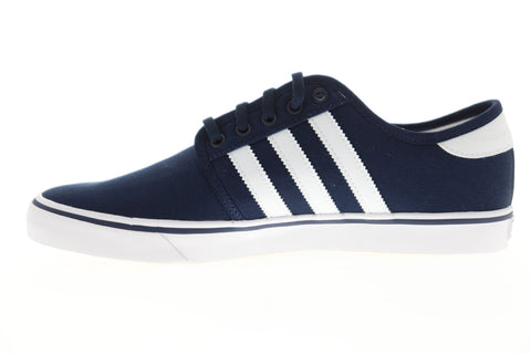 Adidas Seeley Mens Blue Canvas Low Top Lace Up Sneakers Shoes