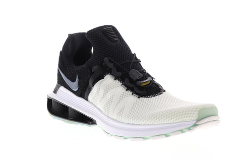 Nike Shox Gravity Mens White Mesh Athletic Slip On Training Shoes