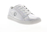 Airwalk Pearl AW19863 Womens Silver Gray Leather Low Top Skate Sneakers Shoes