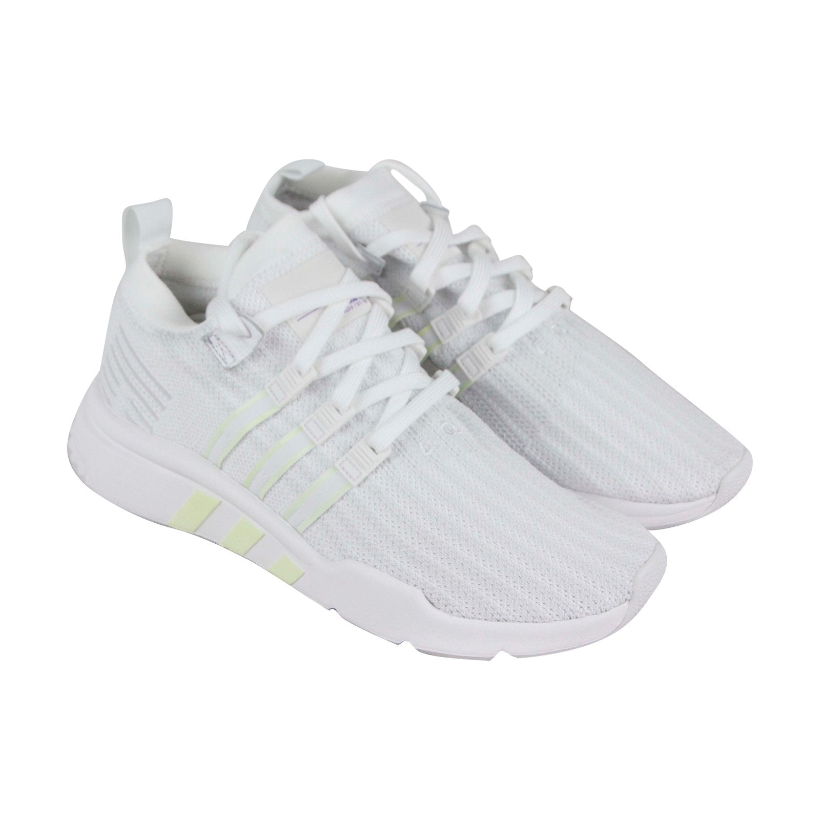 buy online fc436 d2b6d Adidas Eqt Support Mid Adv Mens White Textile Low Top Lace Up Sneakers Shoes