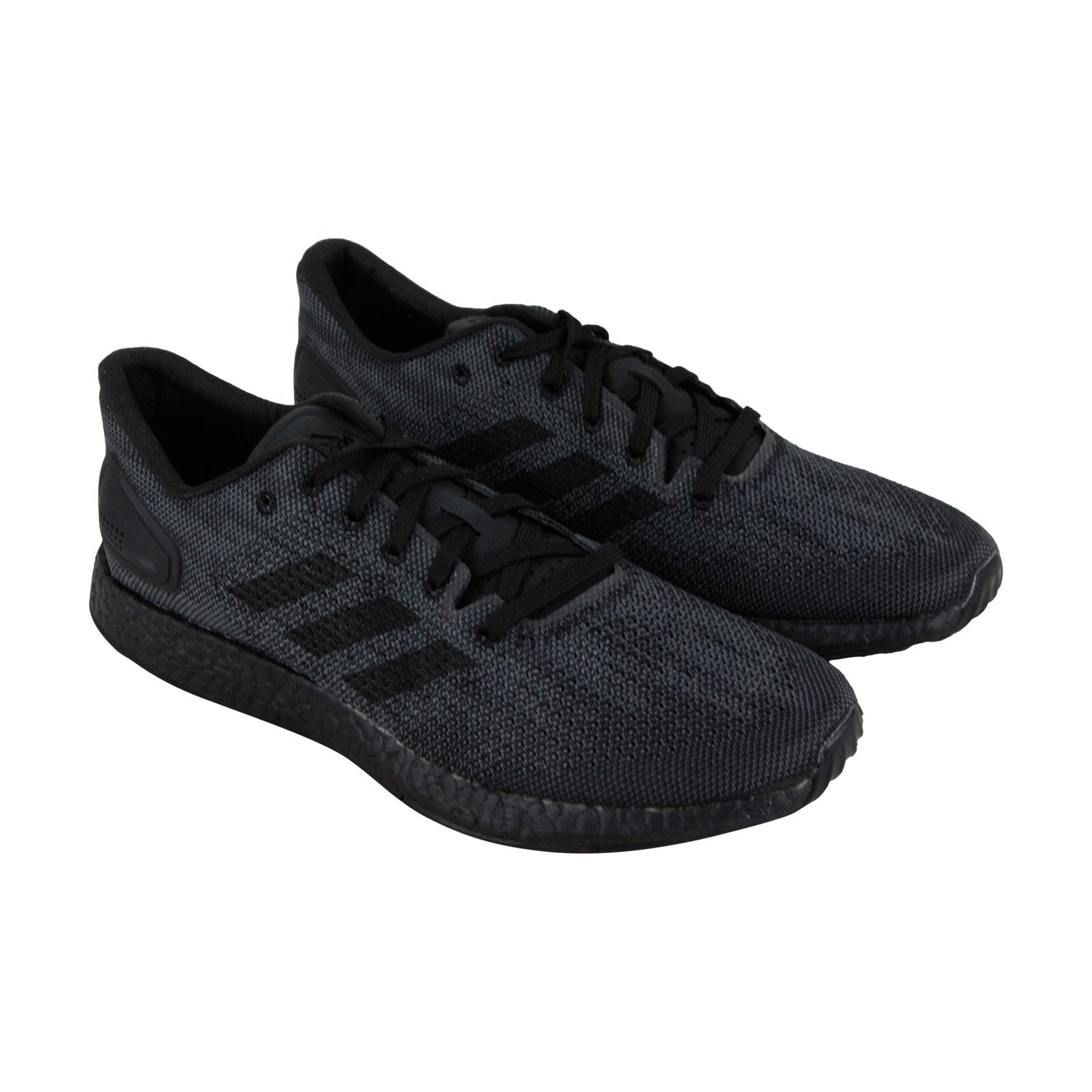 best sneakers abc00 eb367 Adidas Pureboost Dpr Ltd Mens Black Textile Low Top Lace Up Sneakers Shoes