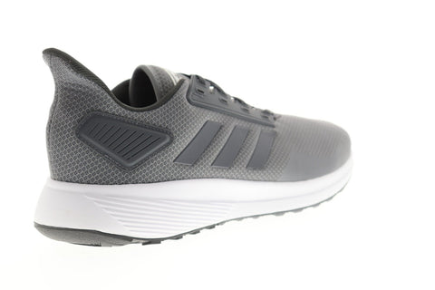 Adidas Duramo 9 Mens Gray Mesh Low Top Lace Up Sneakers Shoes