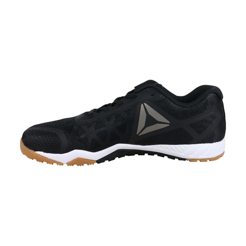 Reebok Ros Workout Tr 2.0 Mens Black Synthetic Athletic Lace Up Training Shoes