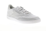 Reebok Club C 85 SYN BD5758 Womens Silver Gray Leather Lifestyle Sneakers Shoes