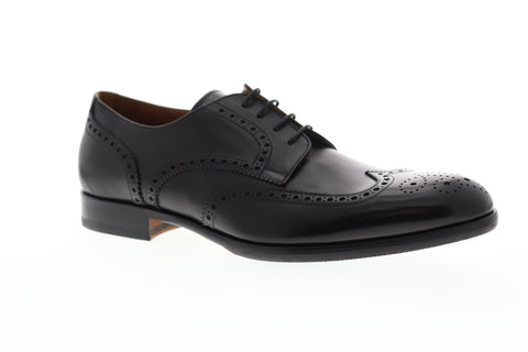 Bruno Magli Parma Mens Black Leather Casual Dress Lace Up Oxfords Shoes