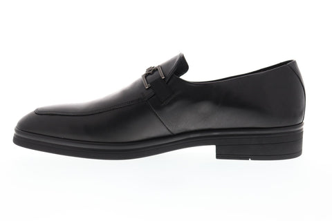 Bruno Magli Elia Mens Black Leather Casual Dress Slip On Loafers Shoes