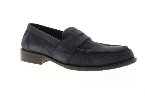 Bruno Magli Canelo Mens Blue Suede Casual Dress Slip On Loafers Shoes