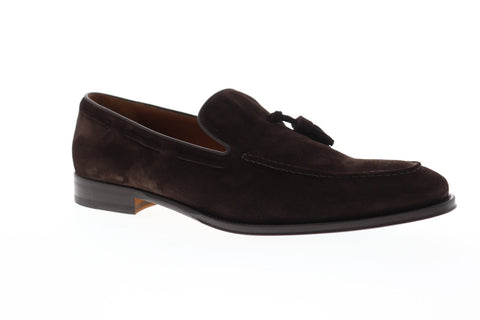 Bruno Magli Fabiolo Mens Brown Suede Casual Dress Slip On Loafers Shoes