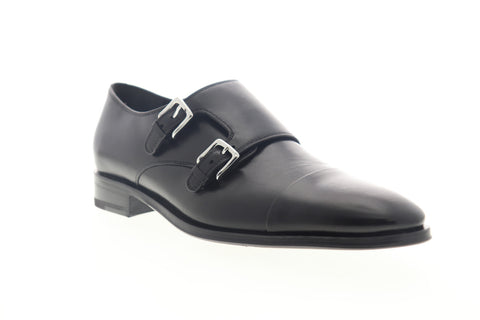 Bruno Magli Mico BM600356 Mens Black Made In Italy Monk Strap Oxfords Shoes