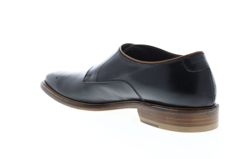 Bruno Magli Joseph Mens Black Leather Casual Dress Strap Oxfords Shoes
