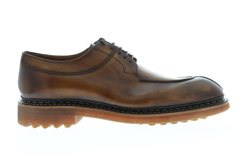Bruno Magli Camino Mens Brown Leather Casual Dress Lace Up Oxfords Shoes