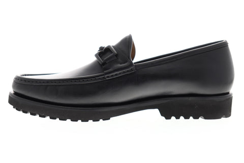 Bruno Magli Falcone BM600495 Mens Black Made In Italy Casual Loafers Shoes