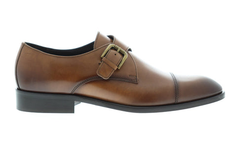 Bruno Magli Nelson Mens Brown Leather Casual Dress Strap Oxfords Shoes