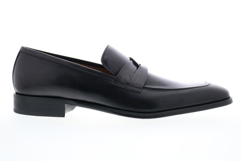 Bruno Magli Brera BM600659 Mens Black Leather Loafers & Slip Ons Penny Shoes