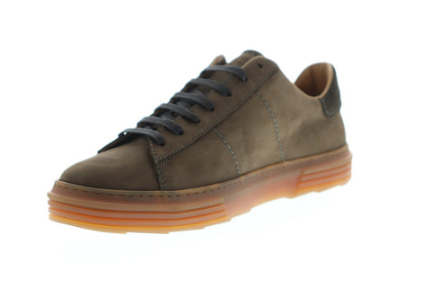 Bruno Magli Guiliano Mens Brown Nubuck Low Top Lace Up Sneakers Shoes