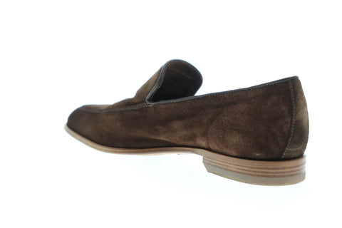 Bruno Magli Ivan Mens Brown Suede Casual Dress Slip On Loafers Shoes