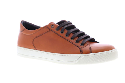 Bruno Magli Westy II Mens Tan Leather Low Top Lace Up Sneakers Shoes