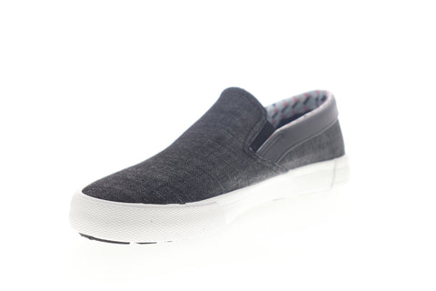 Ben Sherman Pete Slip On BNM00004 Mens Black Canvas Lifestyle Sneakers Shoes