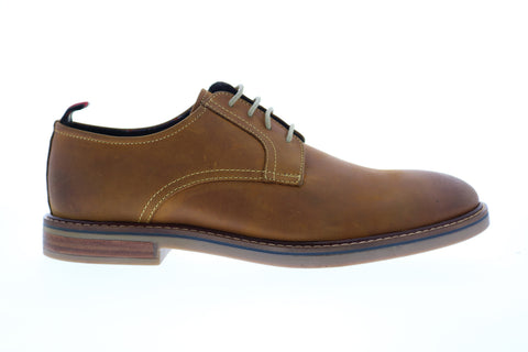 Ben Sherman Birk Cap Toe BNM00023 Mens Brown Leather Plain Toe Oxfords Shoes