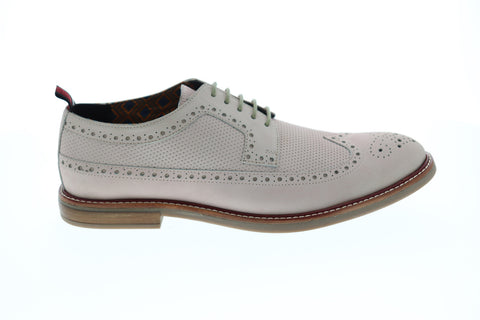 Ben Sherman Birk Long Wingtip Mens Pink Leather Casual Dress Oxfords Shoes
