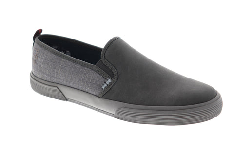 Ben Sherman Bradford Slip On Mens Gray Suede Casual Dress Loafers Shoes