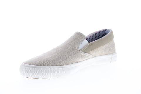 Ben Sherman Percy Slip On BNM00104 Mens Beige Canvas Lifestyle Sneakers Shoes
