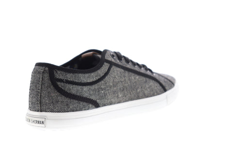 Ben Sherman Conall LO BNM00117 Mens Black Canvas Plaid Lifestyle Sneakers Shoes